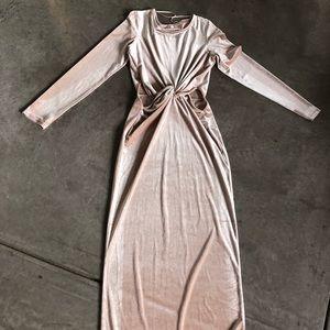TALL Velvet holiday cutout dress